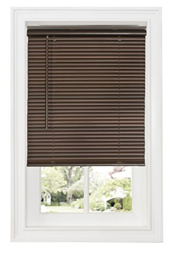 "Ben & Jonah Ben&Jonah Cordless GII Deluxe Sundown 1"" Room Darkening Mini Blind 27x64-Mahogany Collection, Multicolor"