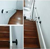 ACZZ Barandilla de la barandilla de la escalera Barandilla blanca de 1Ft-20Ft, Barandillas de madera antideslizantes Escaleras Hogar contra la pared Loft interior Barandillas para ancianos Pasamanos: Amazon.es: Bricolaje y herramientas