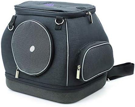 AXRXMA 不変のEVA小型ポータブルペットバッグに対応するためのポータブルでソフトな外 (Color : Black, Size : 30*30*25cm)