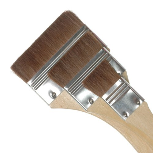 Royal & Langnickel Large Area Artist Brush Set- Three Brown Camel Hair Brushes 4336960905