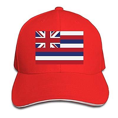 WellShopping Hawaii Flag Element Design Custom Sandwich Peaked Cap Unisex Baseball Hat