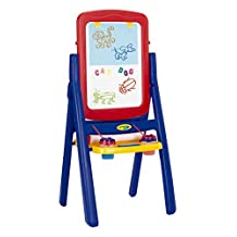 Grow'n Up 5033-01 Crayola Qwikflip 2-Sided Easel, Blue/red/yellow
