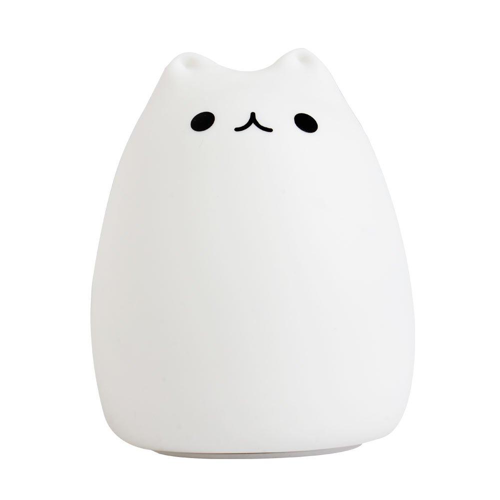 Stebcece Silicone Cat LED Children Animal Night Light USB Soft Cartoon Baby Nursery Lamp (Popular cat) by Stebcece