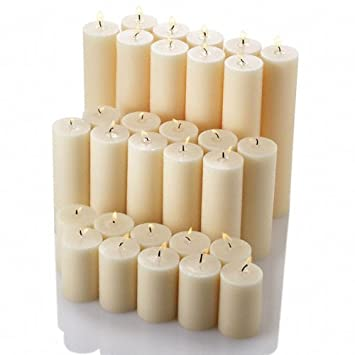 Awesome Richland Pillar Candles Set Ivory Of 30 Images