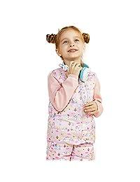 BOSIDENG Kids Boys and Girls Ultra Light Soft Down Waistcoat Lovely Cartoon Down Vest Children Button Vest