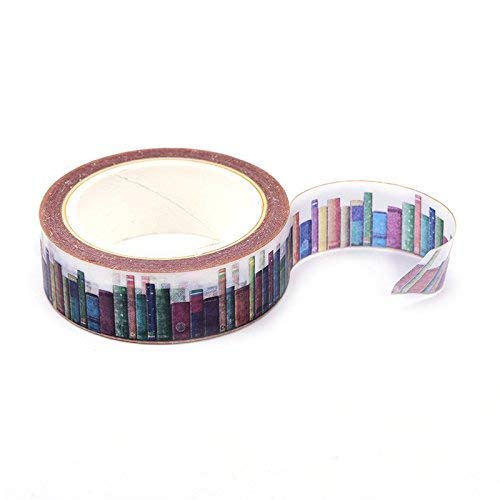 SNNplapla 10M15MM DIY Library Washi Tapes Decorative Adhesive Tapes(1 Roll) - Office School Supplies