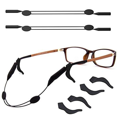 2 Pack Adjustable Eyewear Retainer with Anti-slip Holder