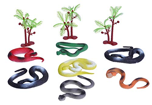 Wild Republic Snake Bucket, Toy Figures, Kids Gifts, Reptile Party Supplies, Fake Snakes, 10Piece