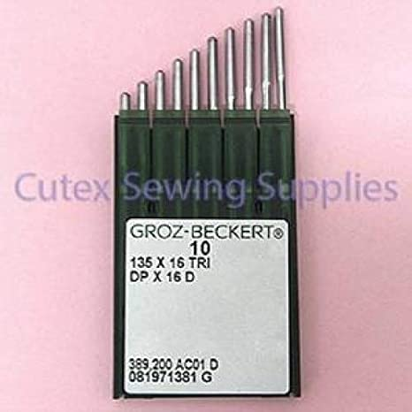 100 Groz-Beckert 135X16TRI DPX16D Walking Foot Machine Leather Sewing Needles Size 18 metric 110