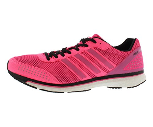 Womens adidas Adizero Adios Boost 2, Pink/White, 6.5 B