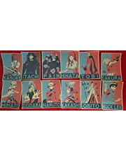 12 Posters Chicos Naruto Anime Kawaii Hinata sasuke