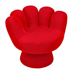 Lumisource micro velvet mitt chair red for Ez hang chairs instructions