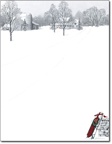 Winter Scene & Sled Holiday Paper - 80 Sheets by Great Papers! ()