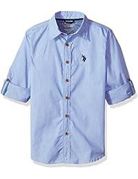 Boys' Long Sleeve Chambray Sport Shirt