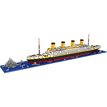 LULUFUN Titanic Ship Model Building Block Set, DIY Nano Micro Blocks Toys ,Educational Toy, Gift for Adults and Children(1860 pcs)