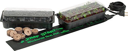 JumpStart JS6120 Windowsill Seed Starting Heat Mat and Tray Kit