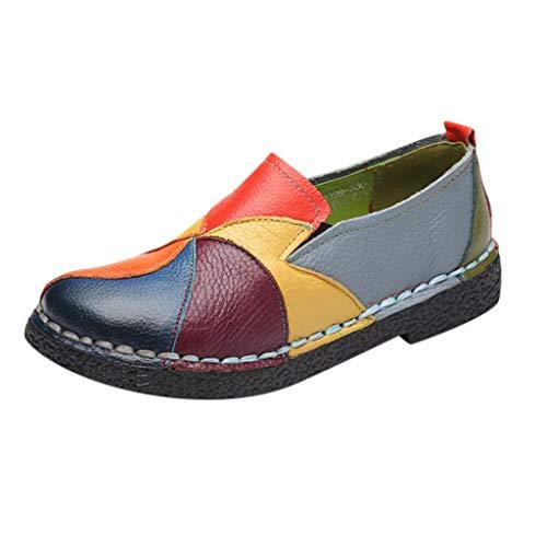 Kauneus Womens Boho National Style Loafers Soft