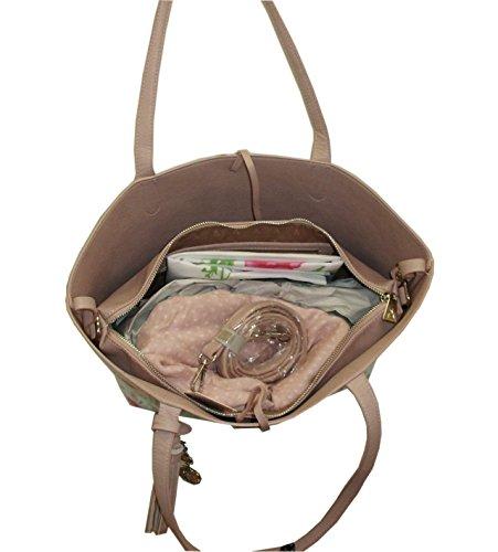 L'Atelier du sac - Bolso de asas para mujer rosa ROSA
