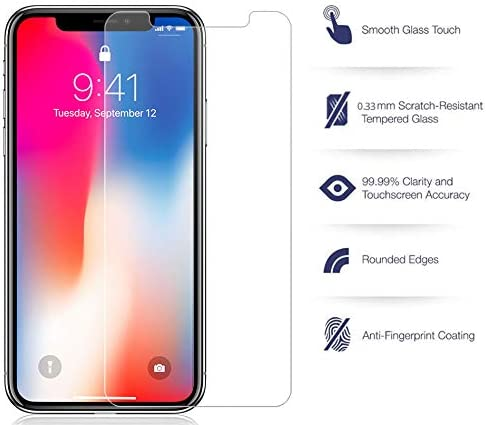 10R for Apple iPhone XR Size 6.1 Model Crack Saver 2018 2X Nakedcellphone 9H Hard Clear Screen Protector Guard iPhone XR Tempered Glass