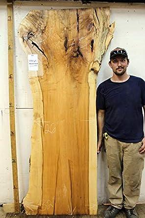 Tocador de madera de arce con borde en vivo, mesa de cocina de ...