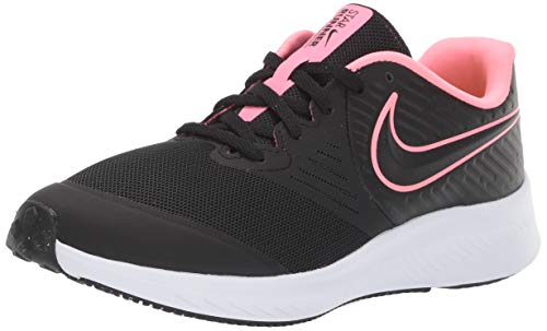 Nike Star Runner 2 (GS) Sneaker, Sunset Pulse-Black-White, 6Y Youth US Big Kid
