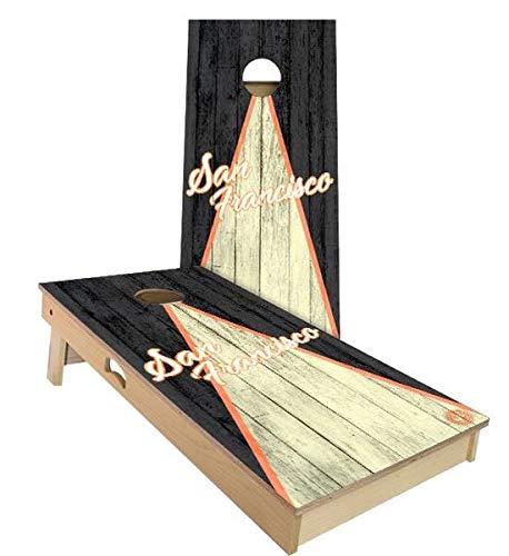 【受注生産品】 Skip's Garage Filled Bags) サンフランシスコ トライアングル Skip's 野球 コーンホールボードセット - サイズとアクセサリーをお選びください - ボード2枚、バッグ8枚など B07N45XVQ4 A. 2x3 Boards (Corn Filled Bags)|A.付属品なし A. 2x3 Boards (Corn Filled Bags), SQUAT USED CLOTHING STORE:1e6ba6f9 --- staging.aidandore.com