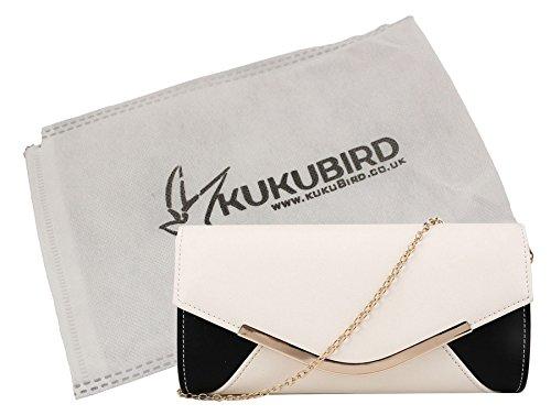 pochette Prom Party Ivory panneau avec enveloppe Simple de Kukubird Harlie amp; à sac Kukubird Black soirée sac main qCY4wxfnpI