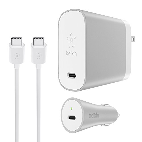 Belkin USB-C Home + Car Charge Kit (USB Type-C) - 6-Foot Kit w/ 45W USB-C Home Charger, 27W USB-C Car Charger ()