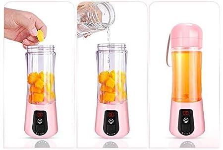 ZTMN Exprimidor USB, licuadora portátil 420 ml, licuadora de ...