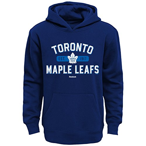 Outerstuff NHL Toronto Maple Leafs Boys Kids Todays Highlights Fleece Hoodie, Large/(7), Leafs Blue