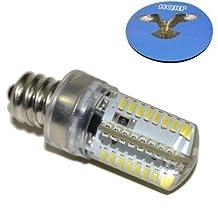 "HQRP 7/16"" 110V LED Light Bulb Warm White for Brother 934D / 935D / 1034D / 1681 / JS-23 / LS-30 / LS-1217 / LS-1520 / LS-2000 Sewing Machine plus HQRP Coaster"
