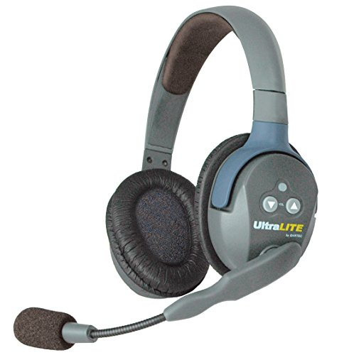 Eartec UltraLITE Double Master Headset with Microphone and Rechargeable Lithium Battery by Eartec