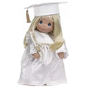 The Doll Maker Precious Moments Dolls, Linda Rick, Graduate, Blonde, 12 inch doll