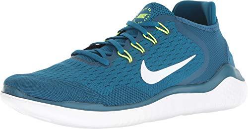 (Nike Free RN 2018 Men's Running Shoe Blue Force/White-Green Abyss)
