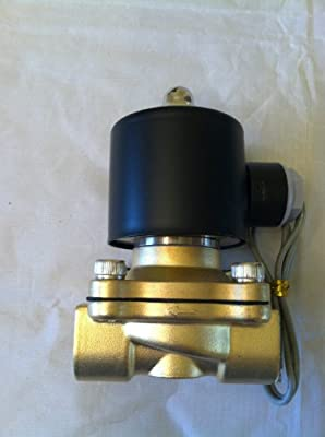 1/2 Solenoid Valve 12v DC Brass Electric Air Water Gas Diesel Normally Closed NPT High Flow from Solenoid Valve Guy