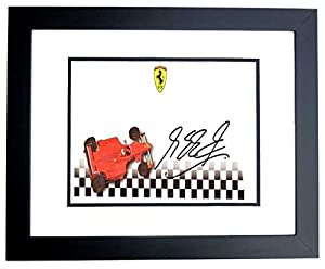 Michael Schumacher Signed - Autographed Formula One Driver 3x7 inch Envelope - BLACK CUSTOM FRAME - Guaranteed to pass PSA or JSA