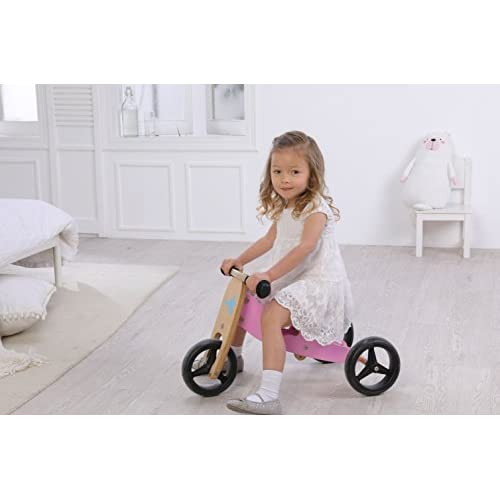 7f96330d802 labebe Kid's Balance Bike, 2-in-1 Pink Balance Bike with Adjustable Seat