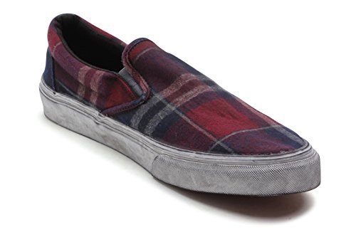 3b031b72cab7f2 Vans Mens Classic Slip-On Ca (Overwashed) Port Royal Bcdc VN-0IL5GK6 ...