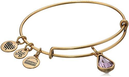 Gold Snake Bracelets - Alex and Ani June Birth Month Charm with Swarovski Crystal Rafaelian Gold Bangle Bracelet