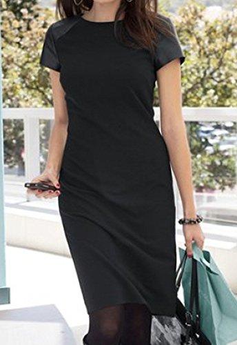 Vivance collection belle imitation cuir élégante avec inserts au niveau des épaules-noir-taille 38