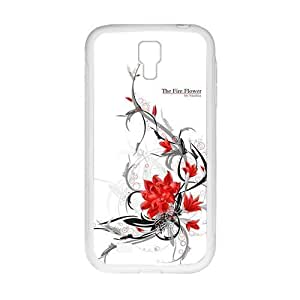 The Fire Flower Fashion Personalized Clear Cell Phone Case For Samsung Galaxy S4
