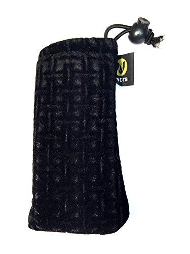 """5.5"""" Black Velvet Drawstring Pipe Bag by (Velvet Pipe)"""