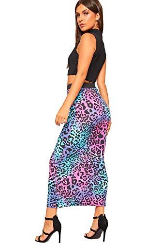 WearAll Longue 36 Maxi Nouveau Animale lev Dames lastique tendue Taille 48 Rose Imprimer Jupe Multi Femmes 1arwx4q1