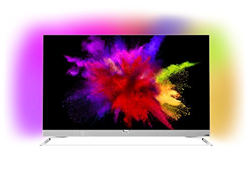 Philips 55POS901F/12 Fernseher 139 cm (55 Zoll), OLED Ultra HD, Triple Tuner, Android TV silber