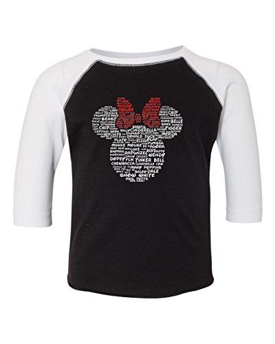 minnie mouse disney character name toddler tee