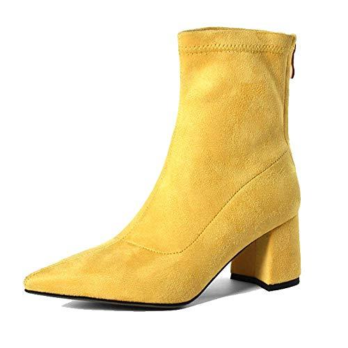 pour élégant talons hauts femmes jaune chaussures et confortable Zpedy pointu décontracté 5Ewxn0qqC