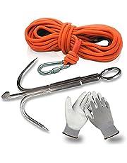 Magfishion® Vismagneet Haak - Medior Vismagneten Dreghaak - Magneetvissen Accessoire - Werphaak + 10 Meter Touw met Karabijnhaak