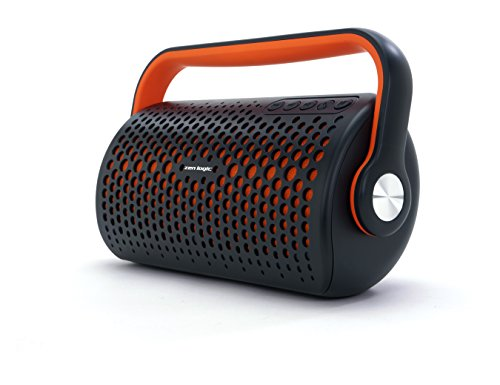 Zen Logic ZL-BBO Bluetooth Stereo Boombox for Universal/SmartPhones - Retail Packaging - Orange & Black