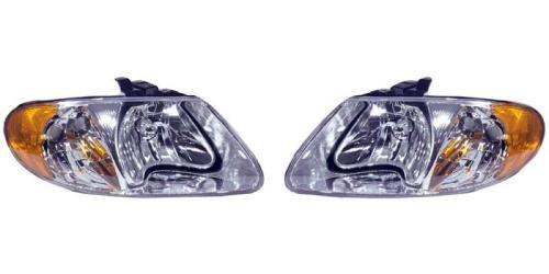 Go-Parts PAIR/SET OE Replacement for 2001-2007 Dodge Caravan Front Headlights Headlamps Assemblies Front Housing/Lens / Cover - Left & Right (Driver & Passenger) Side for Dodge Caravan