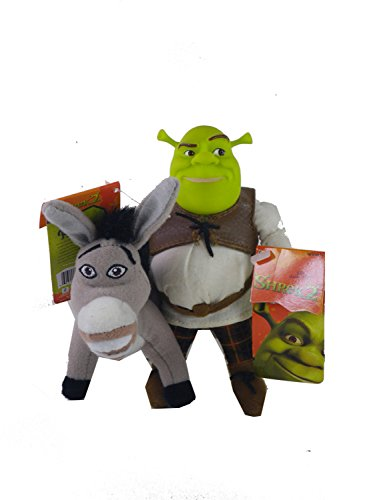 5in Shrek and Donkey Plush Dolls - Shrek Plush Action Figures (Shrek Toys)
